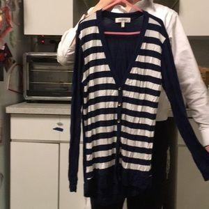 Monteau Cardigan S navy/ white stripes